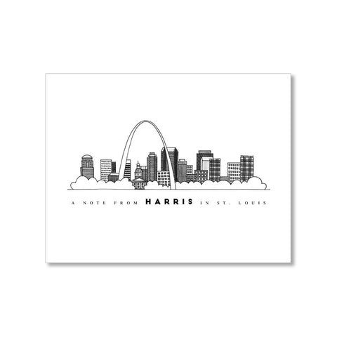 """ST. LOUIS SKYLINE"" PERSONALIZED STATIONERY"