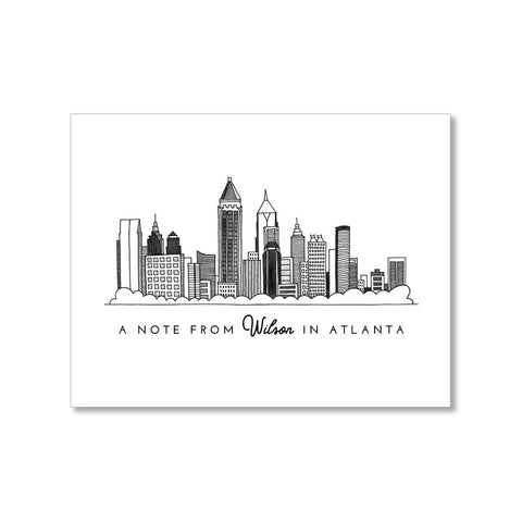 """ATLANTA SKYLINE"" PERSONALIZED STATIONERY"