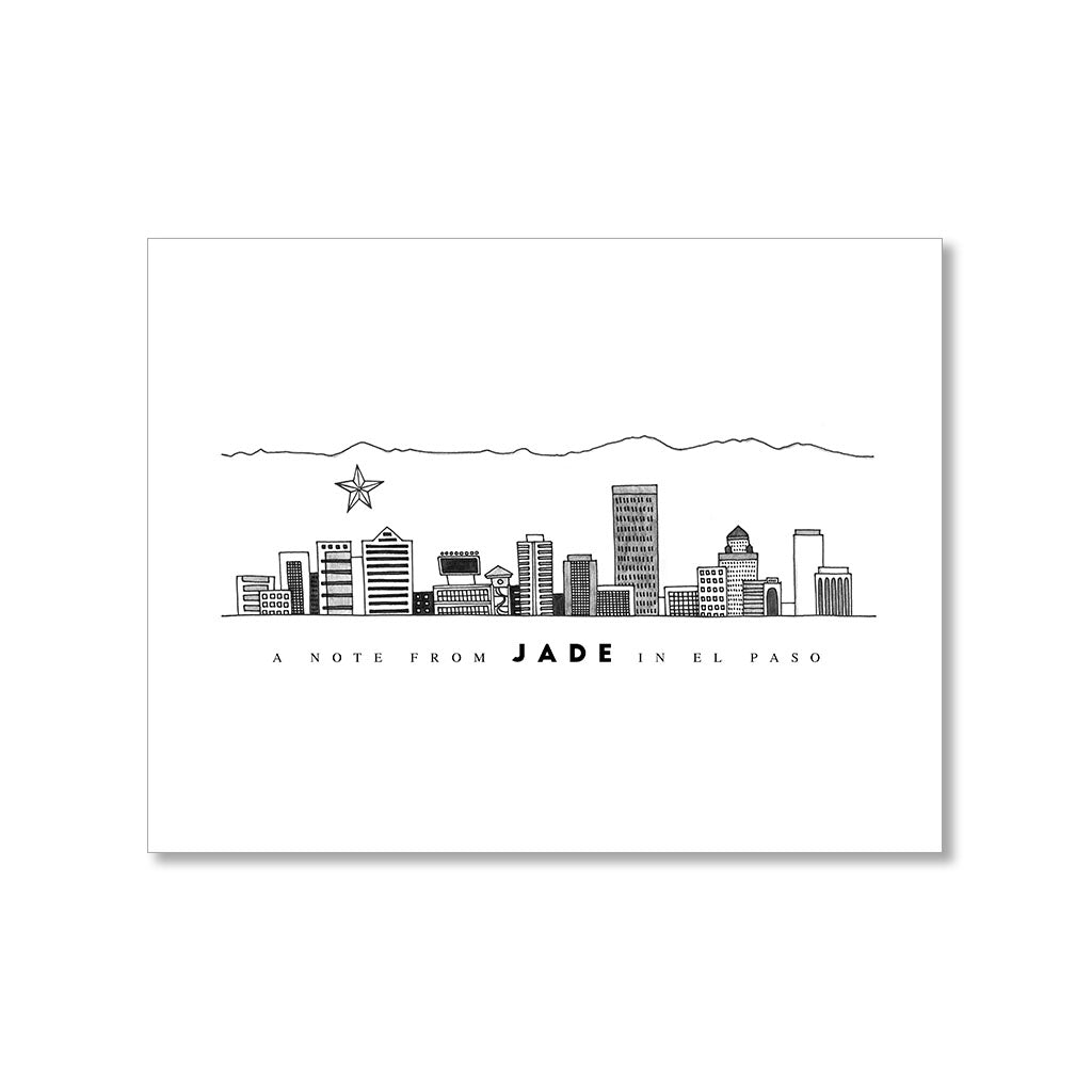"""EL PASO SKYLINE"" PERSONALIZED STATIONERY"