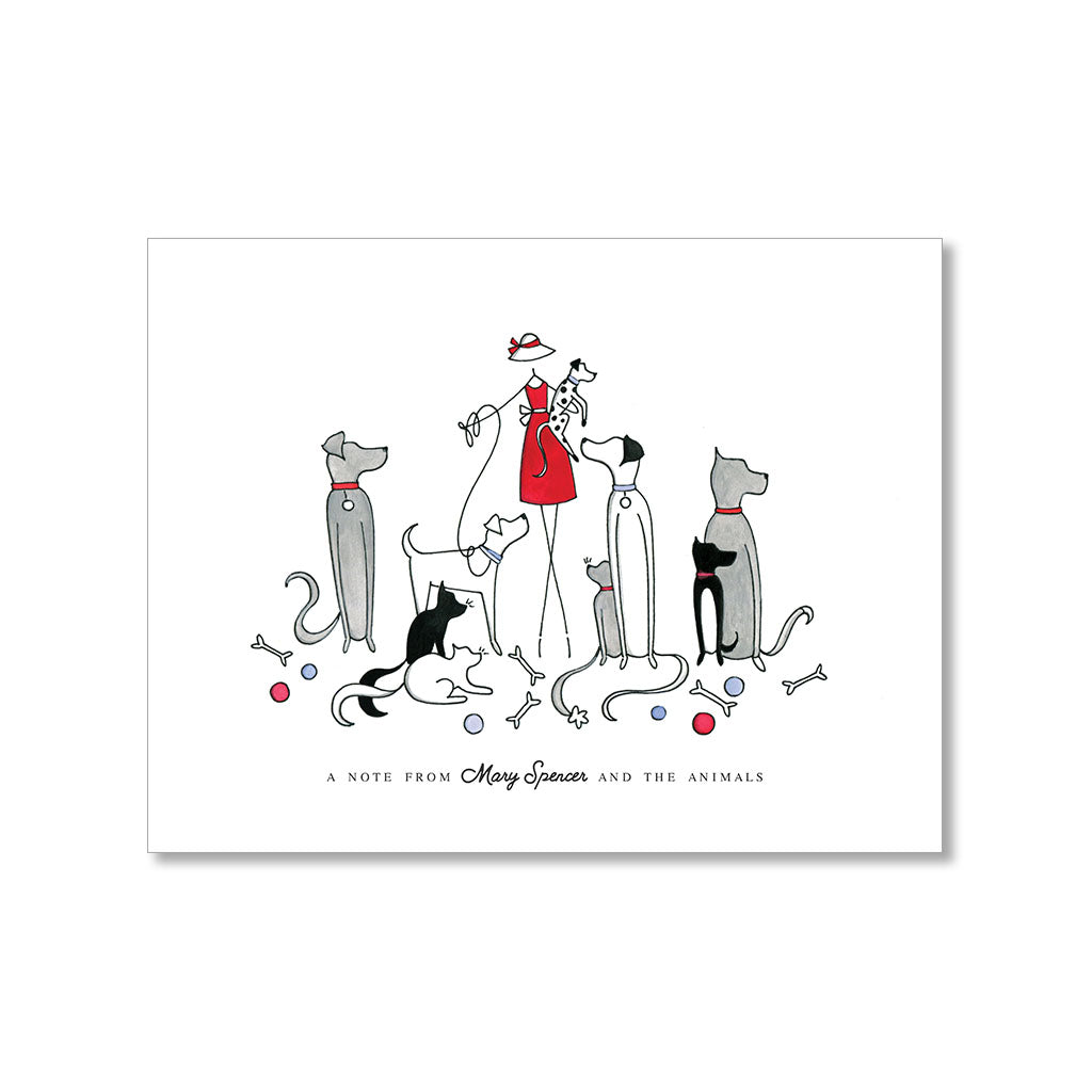 """CATS & DOGS"" PERSONALIZED STATIONERY"