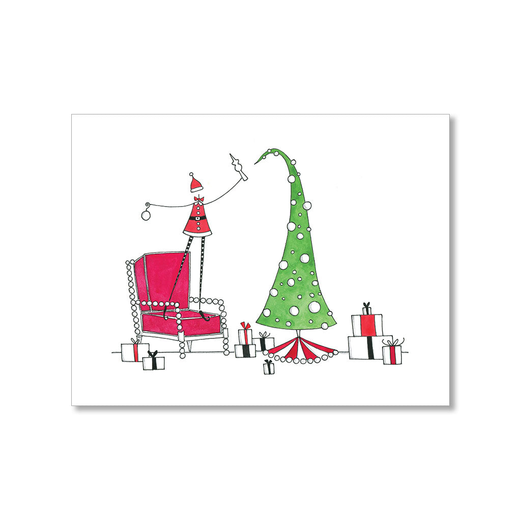 """TREE TOPPER"" PERSONALIZED HOLIDAY CARD"