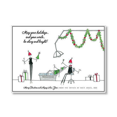 """DENTIST'S HOLIDAY"" PERSONALIZED HOLIDAY CARD"