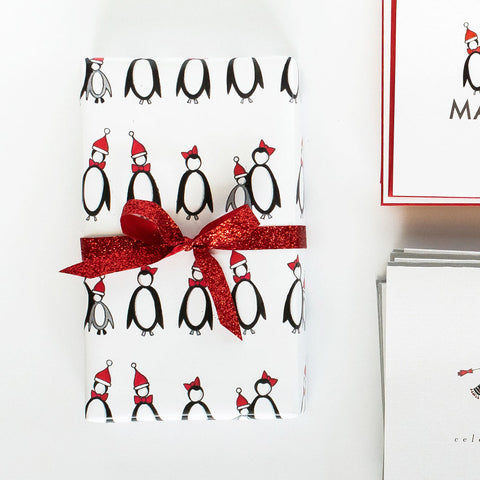 """PENGUINS"" WRAPPING PAPER"