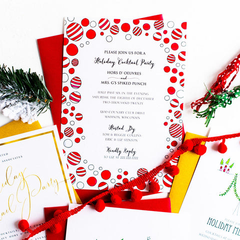 """ORNAMENTS"" HOLIDAY INVITATION"