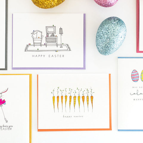 """CARROTS"" EASTER CARD"