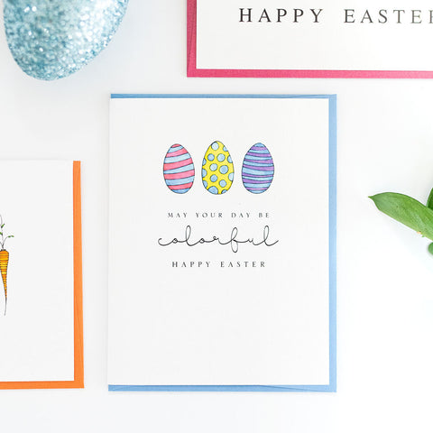 """COLORFUL"" EASTER CARD"