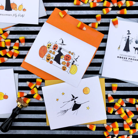 """THE FRIENDLY WITCH"" HALLOWEEN CARD"