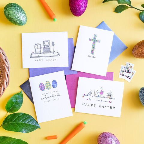 """EASTER BUNNIES"" EASTER CARD"