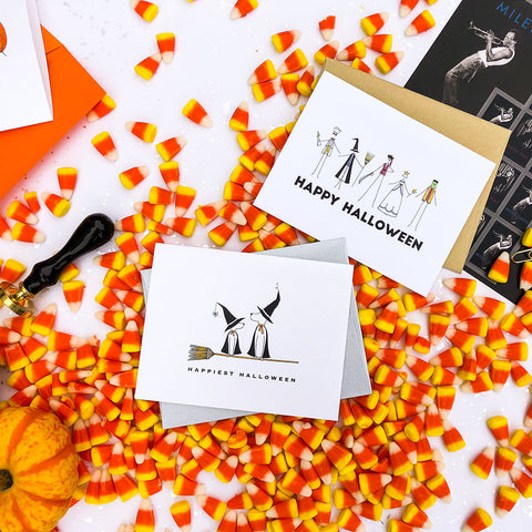 """BROOMSTICK"" HALLOWEEN CARD"