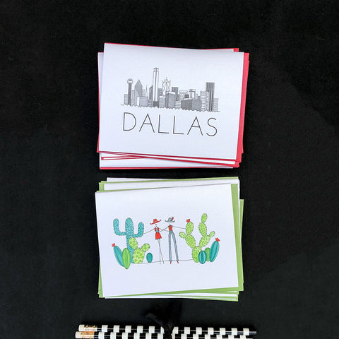 """DALLAS SKYLINE"" BLANK CARD"