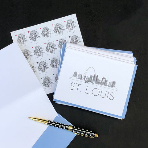 """ST. LOUIS SKYLINE"" BLANK CARD"