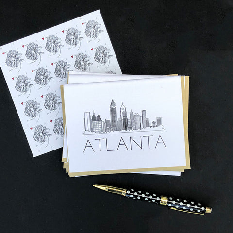 """ATLANTA SKYLINE"" BLANK CARD"