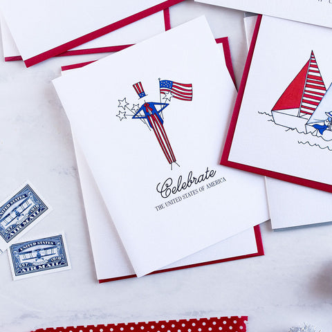 """UNCLE SAM"" PATRIOTIC CARD"