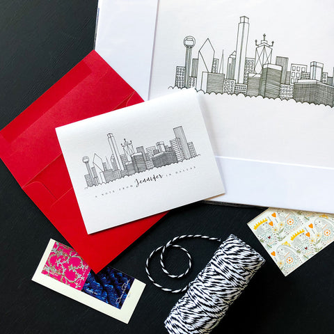 """DALLAS SKYLINE"" PERSONALIZED STATIONERY"