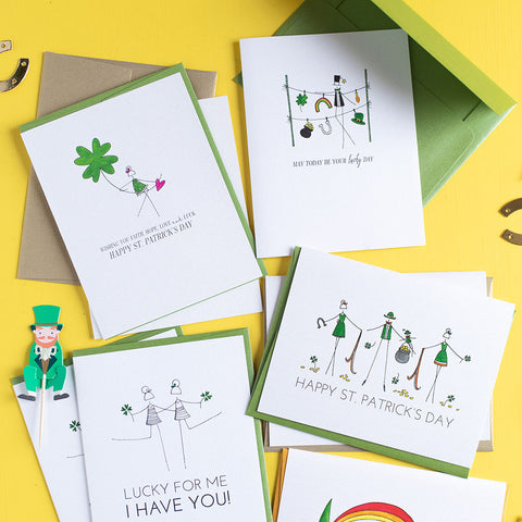 """CLOVER"" ST. PATRICK'S DAY CARD"