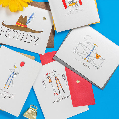 """COWBOY COUPLE"" PERSONALIZED STATIONERY"