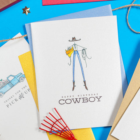 """COWBOY"" BIRTHDAY CARD"