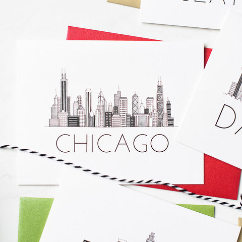 """CHICAGO SKYLINE"" BLANK CARD"
