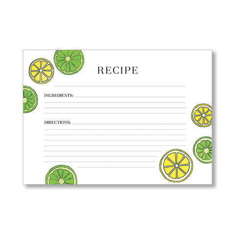"""LEMON-LIME"" RECIPE CARDS"