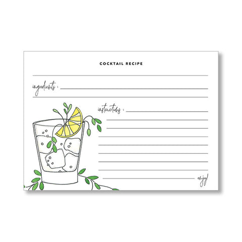 """LEMON SMASH"" RECIPE CARDS"
