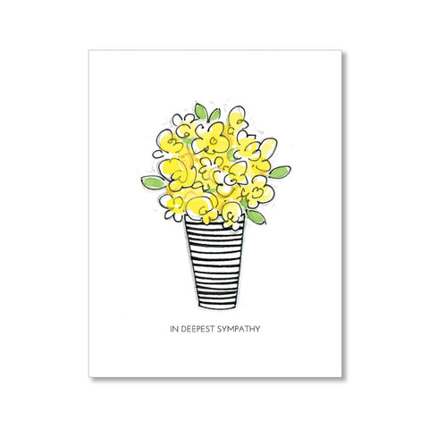 """BOUQUET"" SYMPATHY CARD"