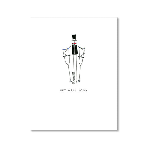 """CRUTCHES"" GET WELL CARD"
