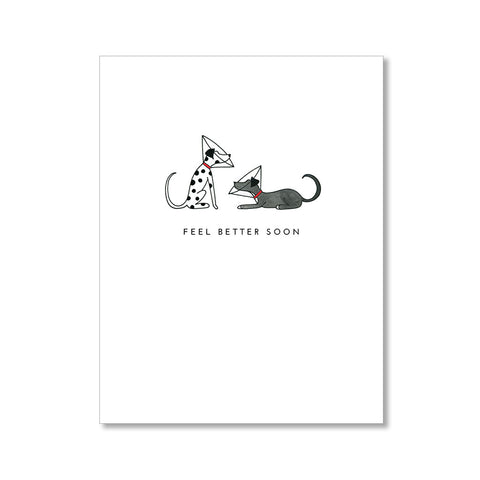 """CATS ON THE MOON"" BLANK CARD"
