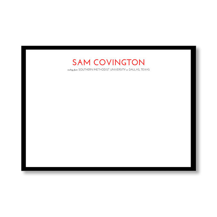 """UNIVERSITY"" PERSONALIZED STATIONERY"