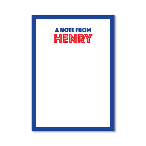 """BOLD"" PERSONALIZED STATIONERY"