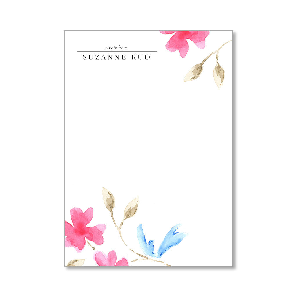 """FLORAL WATERCOLOR"" PERSONALIZED STATIONERY"