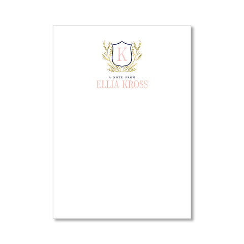 """CREST"" LIMITED EDITION PERSONALIZED STATIONERY"