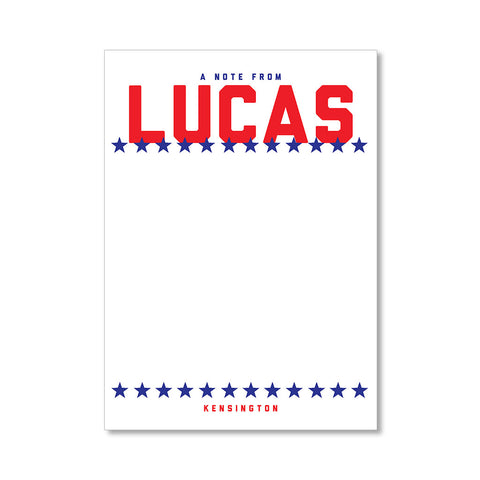 """BOLD STARS"" PERSONALIZED STATIONERY"
