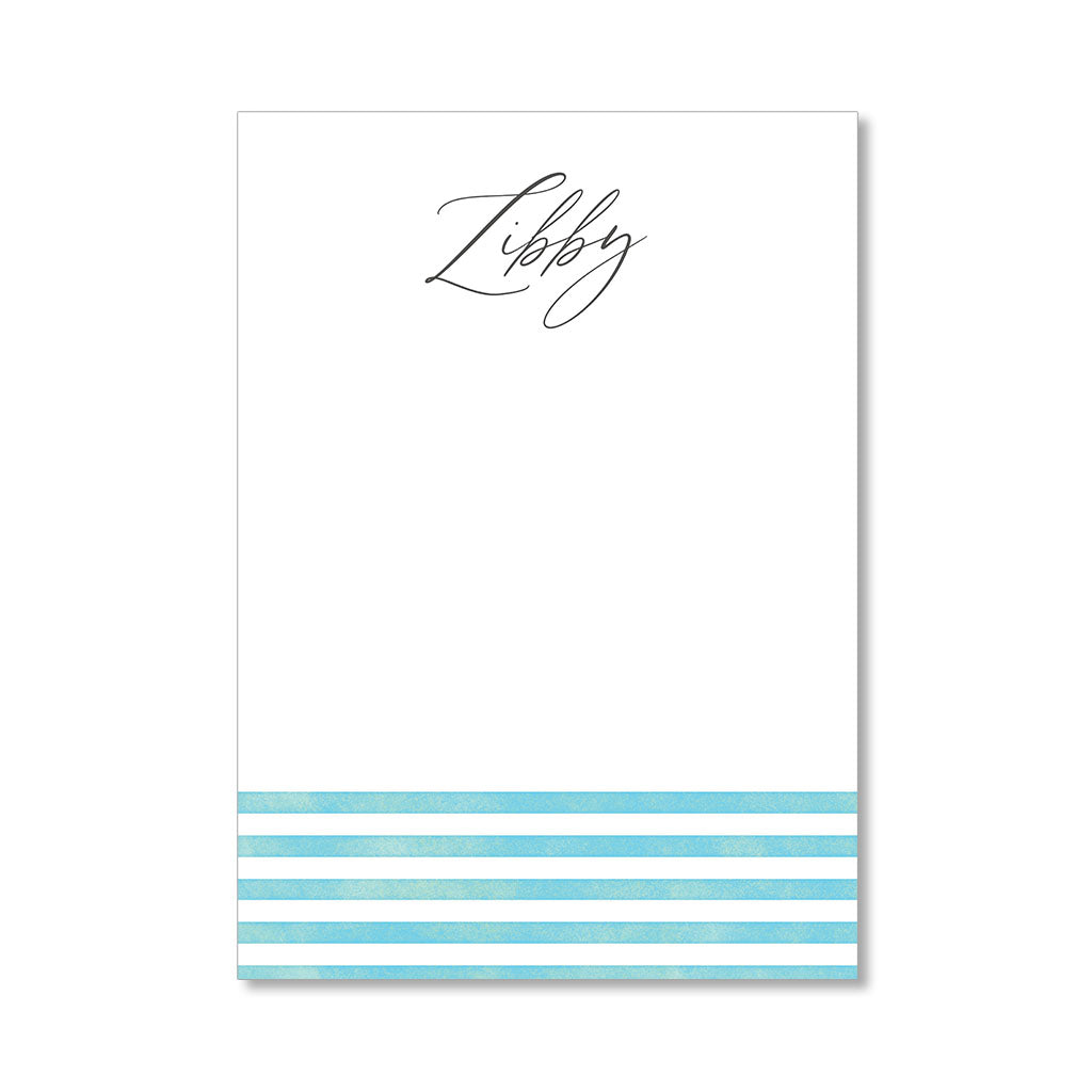 """SOFT STRIPES"" PERSONALIZED STATIONERY"