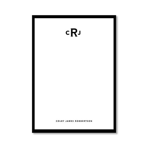 """CLASSIC MONOGRAM"" PERSONALIZED STATIONERY"