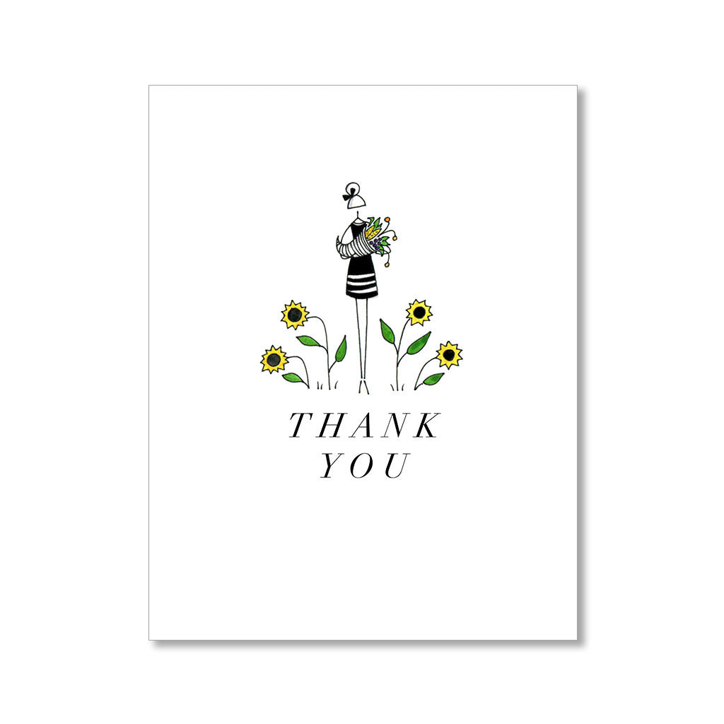"""SUNFLOWERS"" THANK YOU CARD"