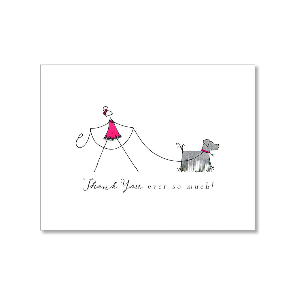 """ON A WALK"" THANK YOU CARD"