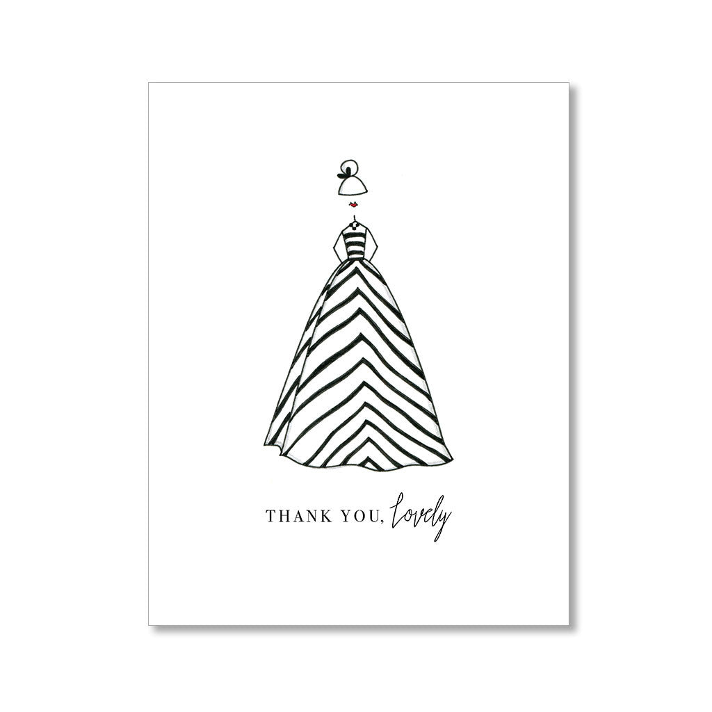 """THE STRIPED DRESS"" THANK YOU CARD"