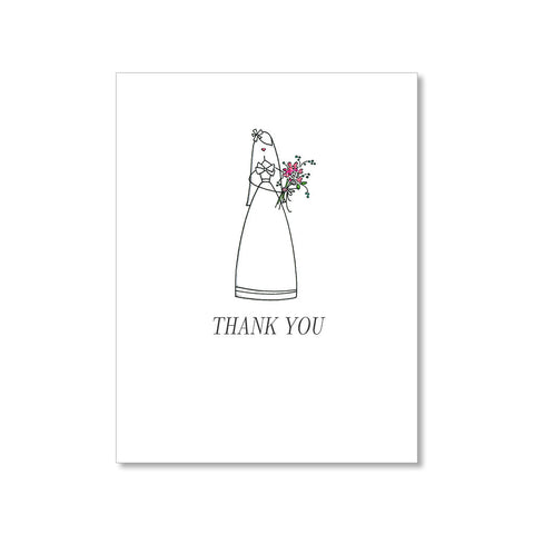 """THE BRIDE"" THANK YOU CARD"