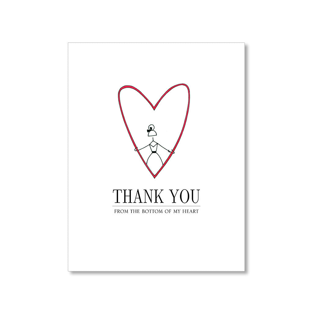 """MY HEART"" THANK YOU CARD"