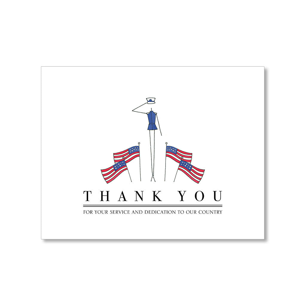 """SALUTE"" THANK YOU CARD"
