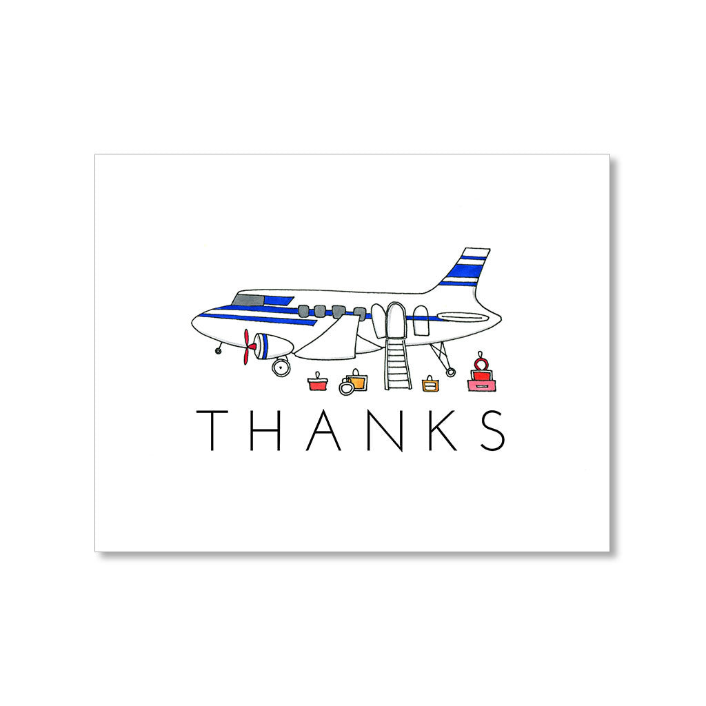 """NOW BOARDING"" THANK YOU CARD"