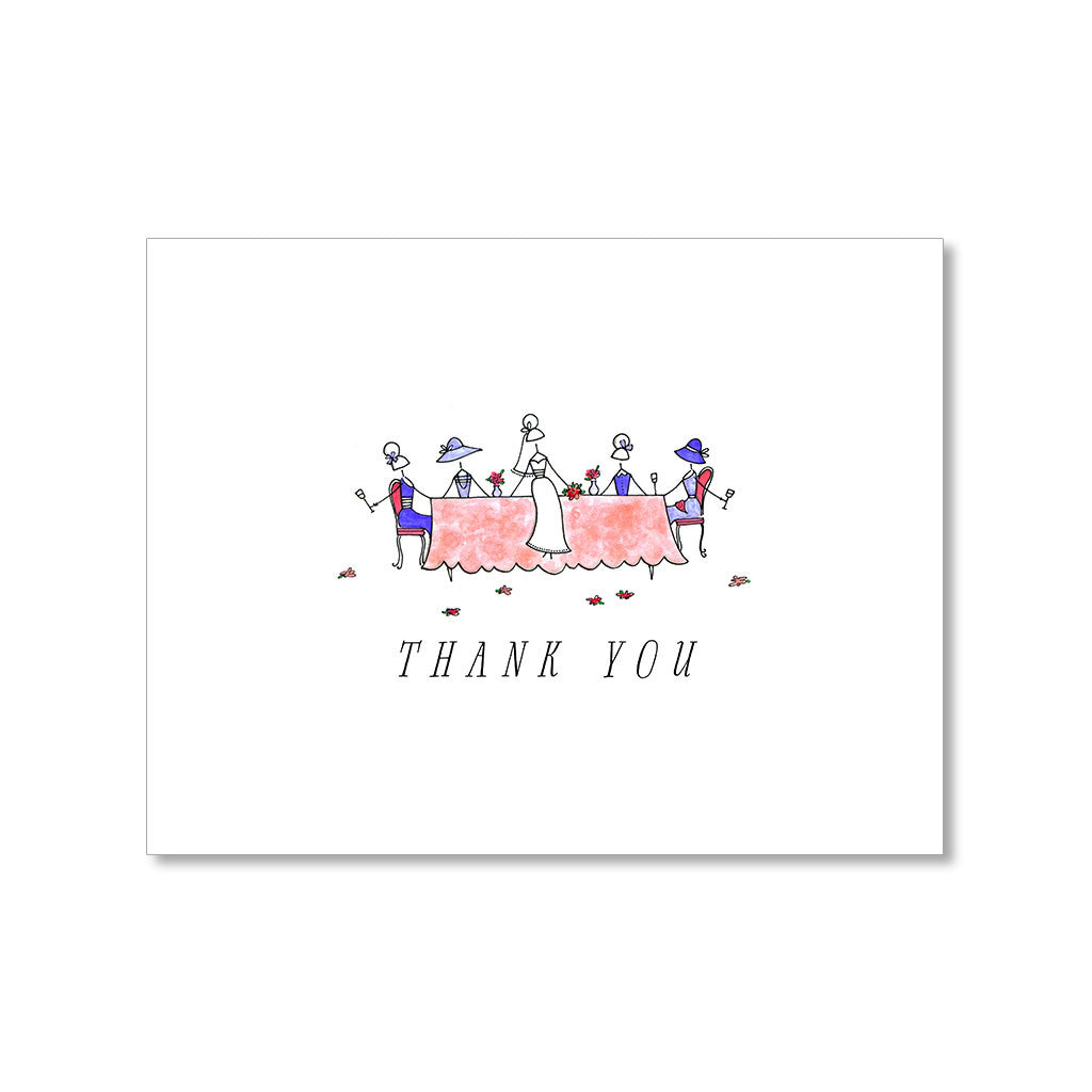 """THE BRIDAL LUNCHEON"" THANK YOU CARD"