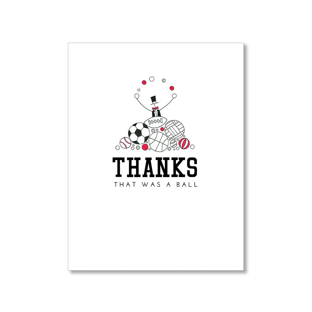 """A BALL"" THANK YOU CARD"
