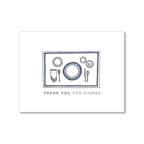 """DINNER"" THANK YOU CARD"