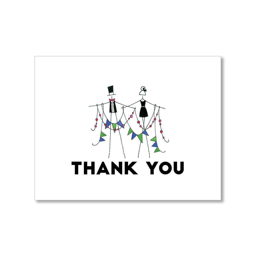"""GARLAND"" THANK YOU CARD"