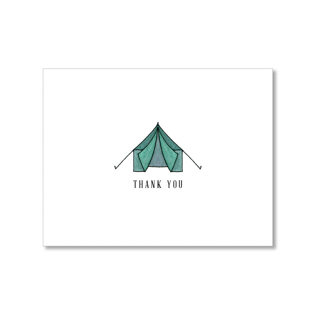 """GREEN TENT"" THANK YOU CARD"