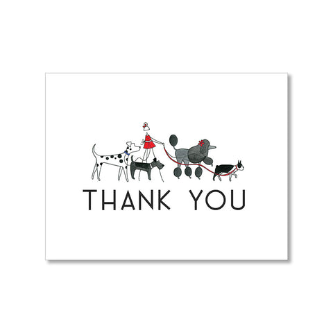 """DOG WALKER"" THANK YOU CARD"