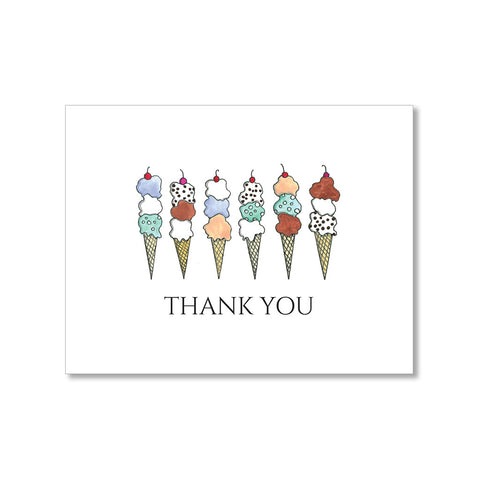 """WAFFLE CONES"" THANK YOU CARD"