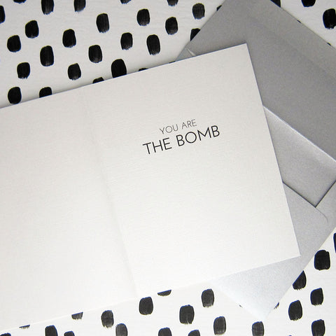 """THE BOMB"" ENCOURAGEMENT CARD"