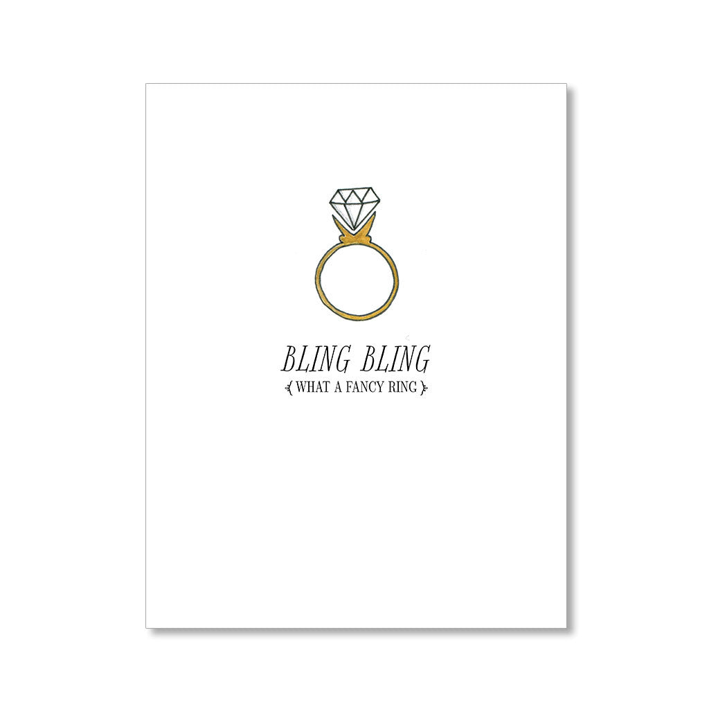 """BLING BLING"" CONGRATULATIONS CARD"